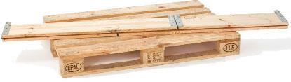 Holzaufsatzrahmen zusammengelegt