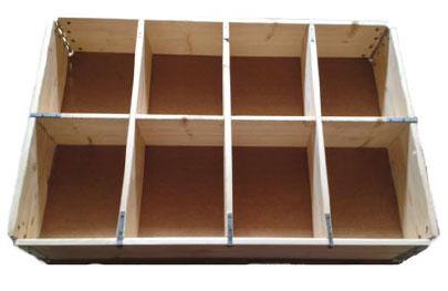 Holzaufsatzrahmen mit Facheinteilungen
